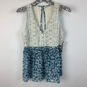 Melrose and Market Lace Open Back Blouse
